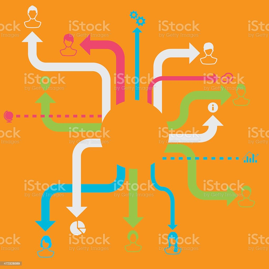Network concept royalty-free stock vector art