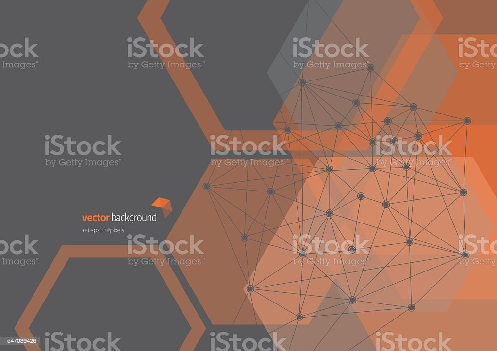 Network Connection Abstract Background vector art illustration