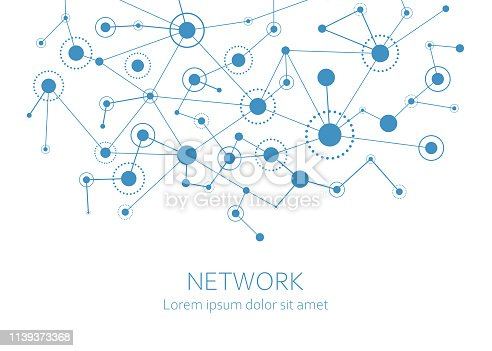 Network connection background. Vector