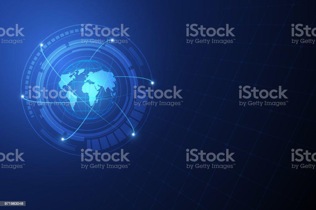 Netzwerkverbindung Globale Telekommunikation Konzept Vektor