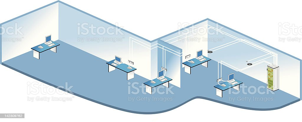 Network connection royalty-free stock vector art