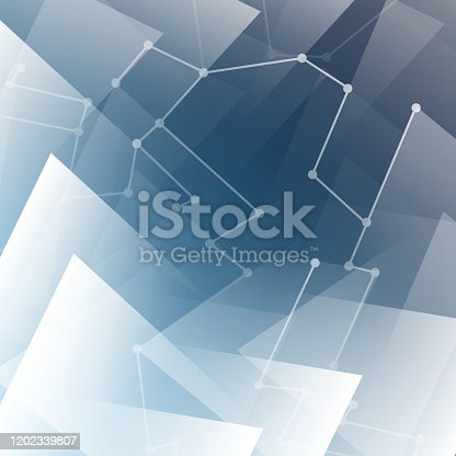 508945010 istock photo Network Connections - Abstract Blue Background 1202339807