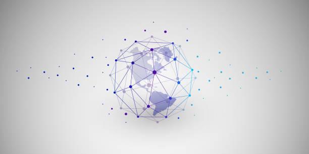 network connections concept - komunikacja globalna stock illustrations
