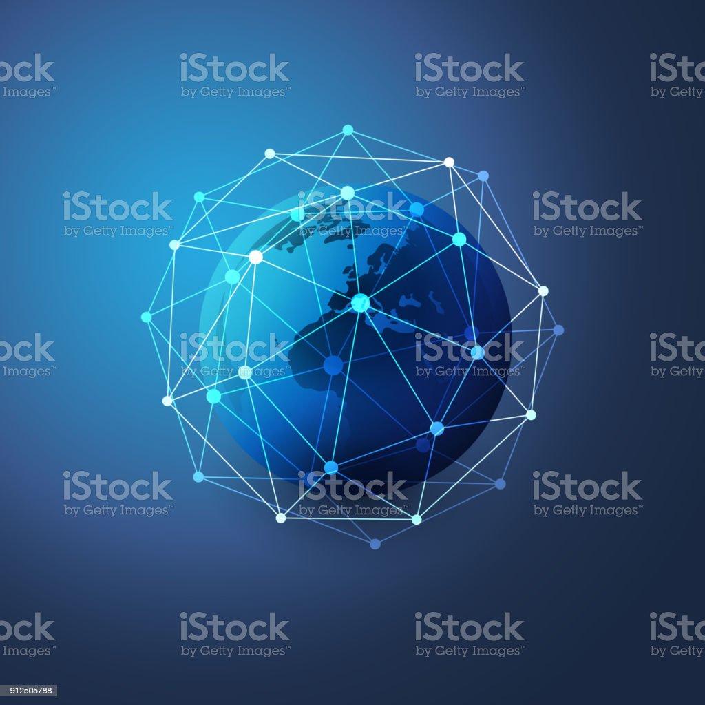 Netzwerk-Verbindungen-Konzept – Vektorgrafik