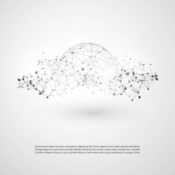 Network Connections Concept vector art illustration