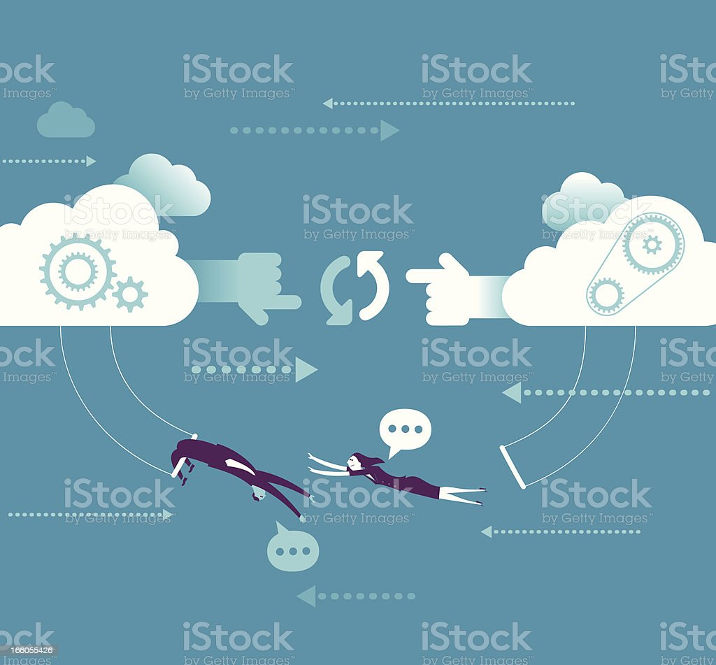 Network cooperation concept vector art illustration