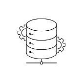 istock Network Database Line Icon 1268337958
