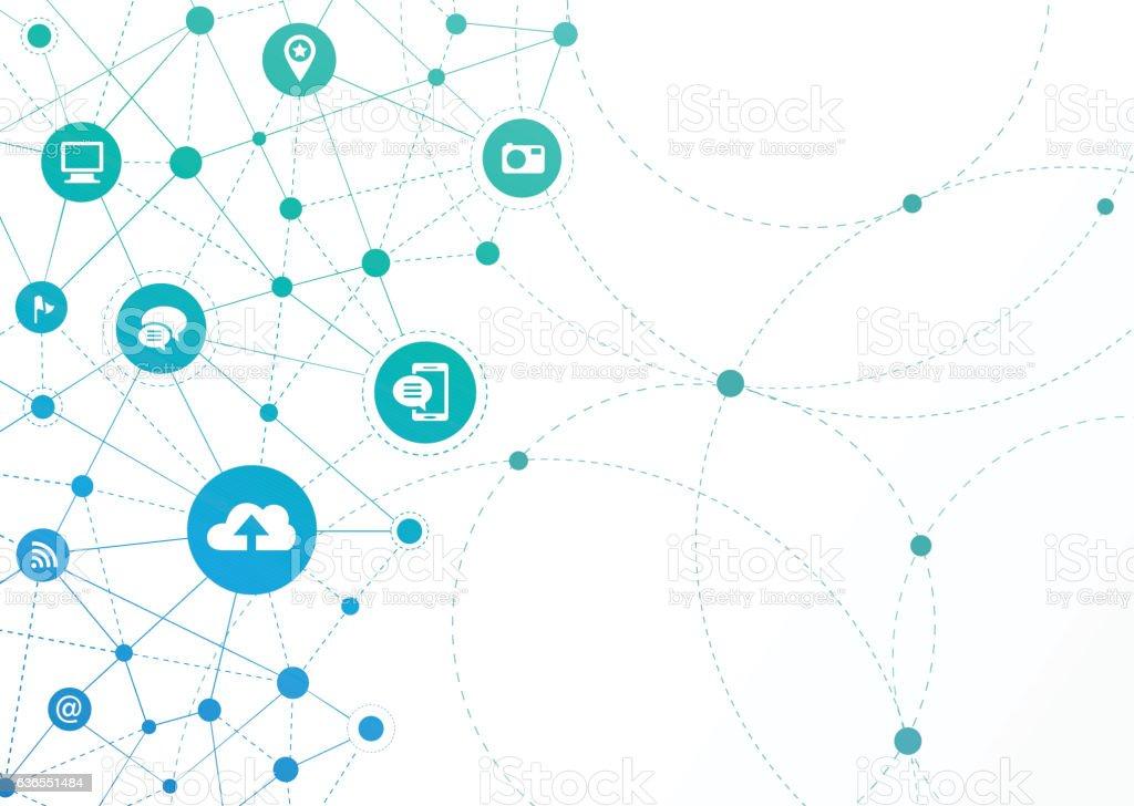 Network Dots - Communication