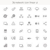 network icon linear UI