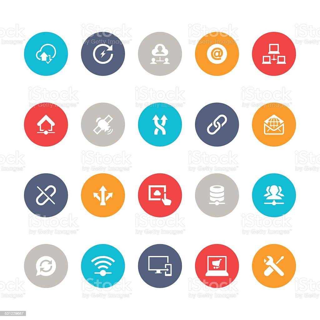 Network Icon Set | 5color Series vector art illustration