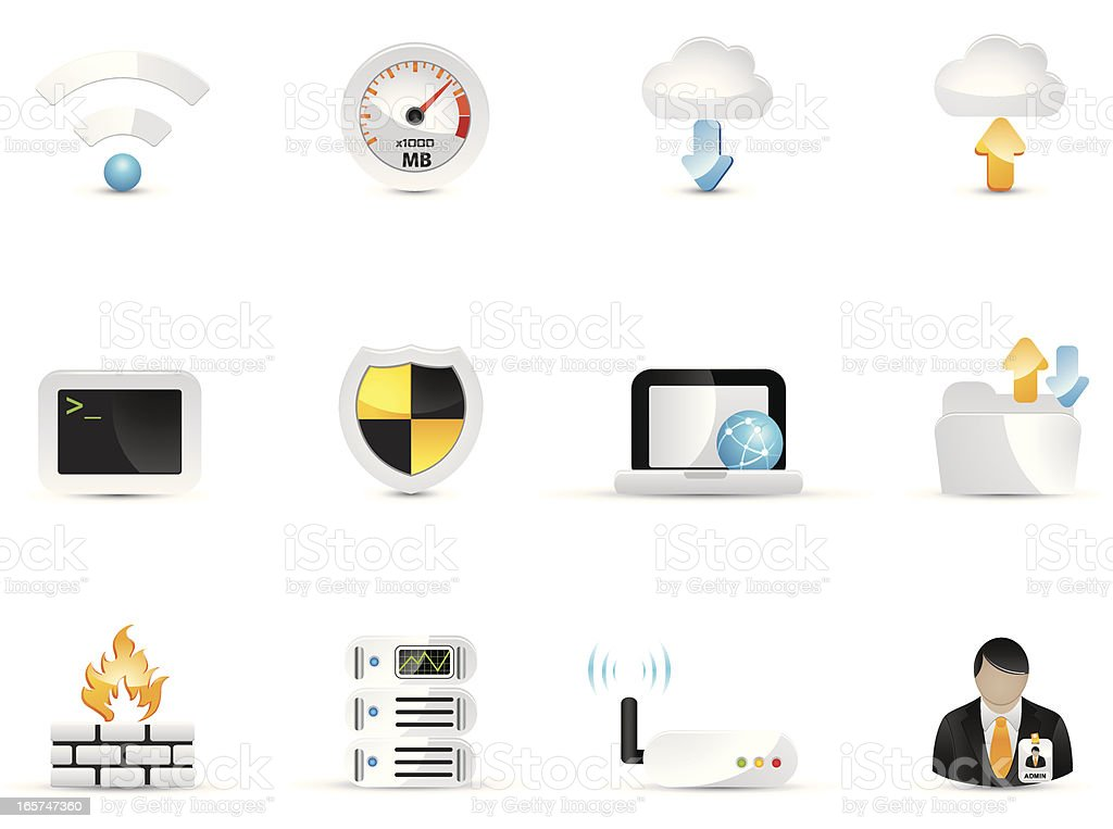 Network Icon Set royalty-free stock vector art
