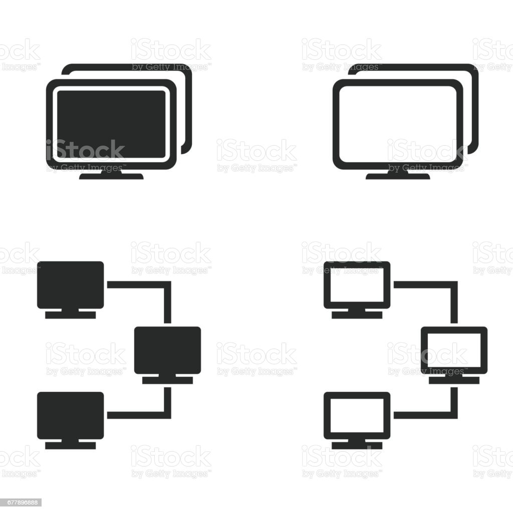 Network icon set. royalty-free network icon set stock vector art & more images of community