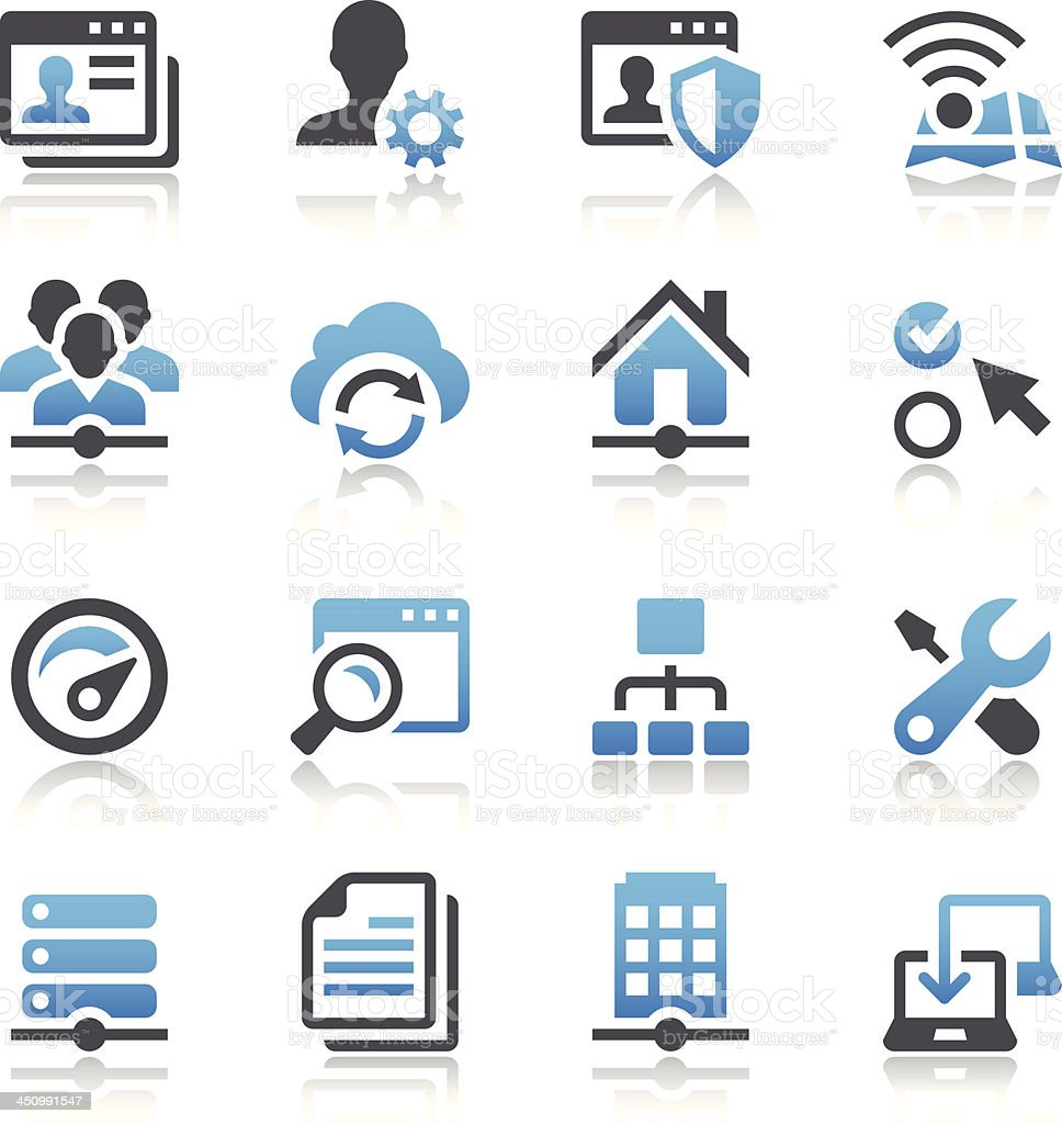 Network Icons vector art illustration