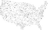A USA network map. Hires JPEG (5000 x 5000 pixels) and EPS10 file included.