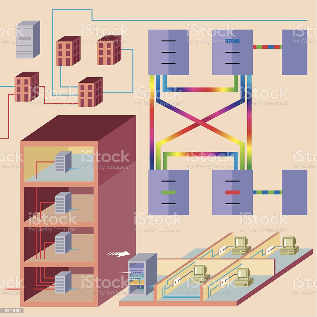 Network Plans vector art illustration