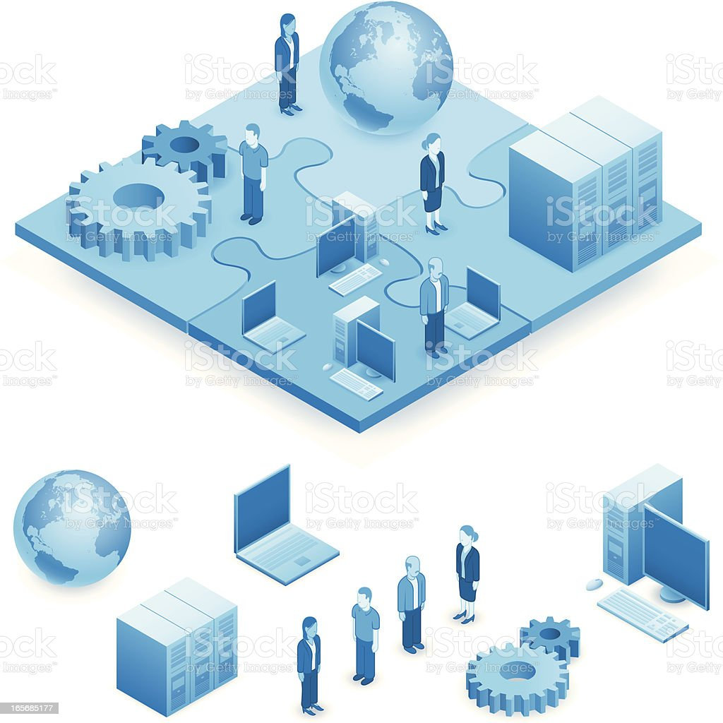 Network puzzle royalty-free stock vector art