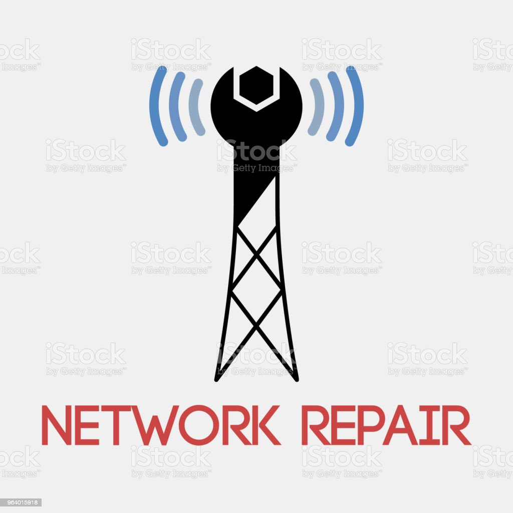 Network Repair Symbol Design For Icons And Company Branding Stock
