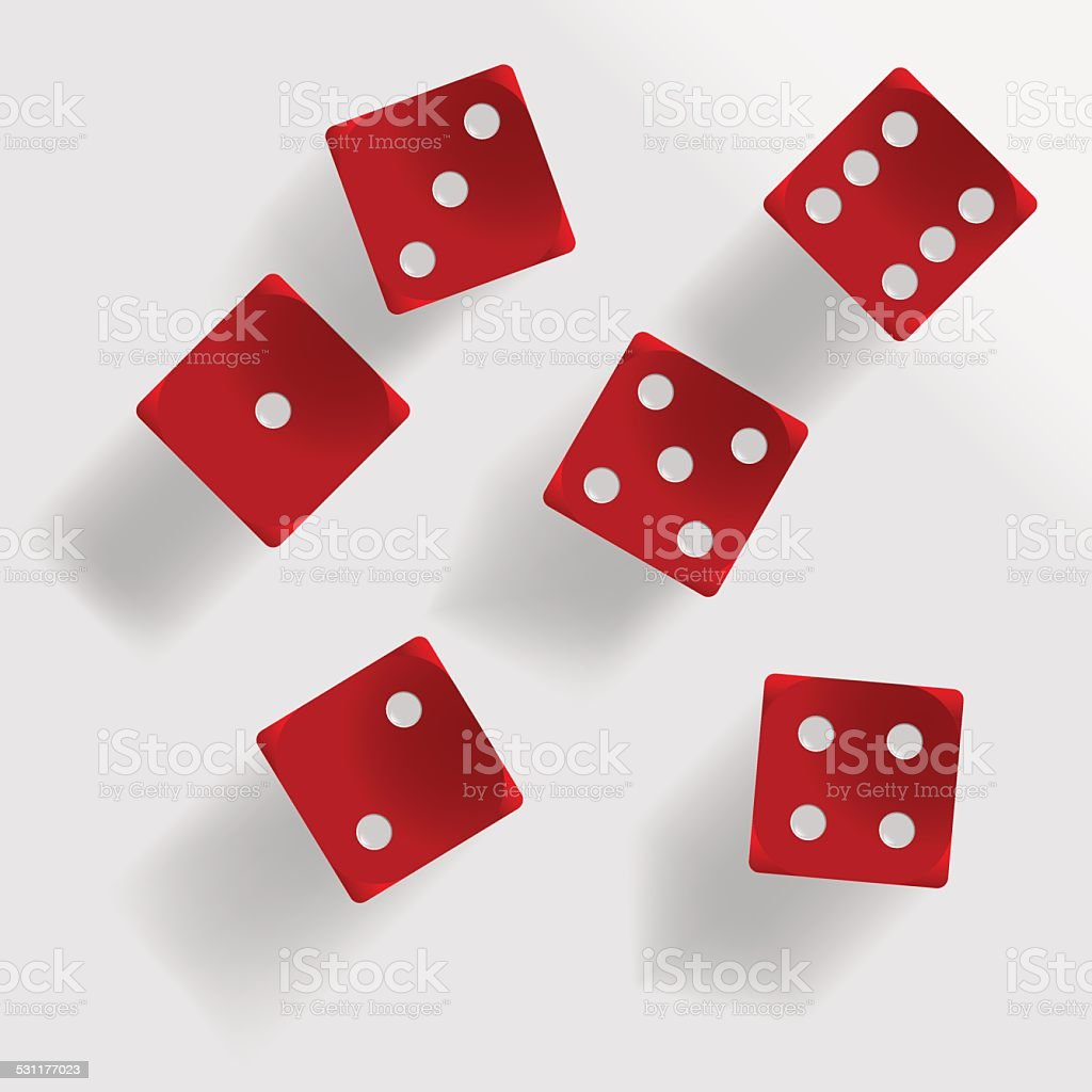 Red dice vector art illustration