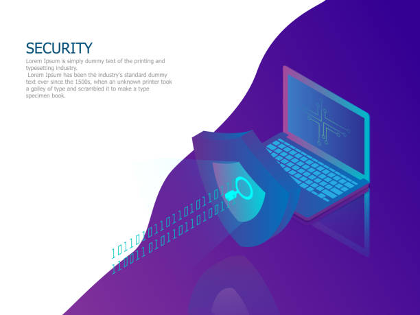 network security concept vector art illustration