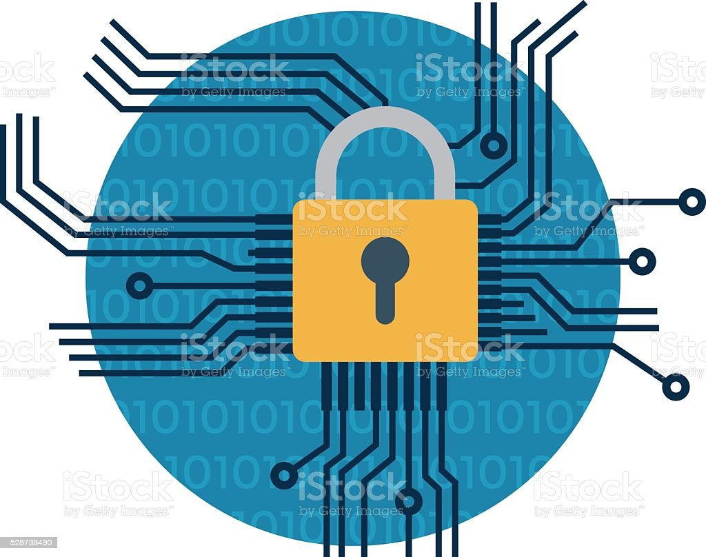 Network Security Vector Icon vector art illustration