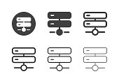 Network Server Icons Multi Series Vector EPS File.