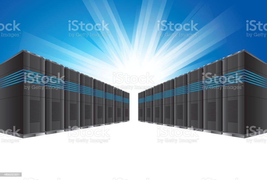Network server royalty-free stock vector art