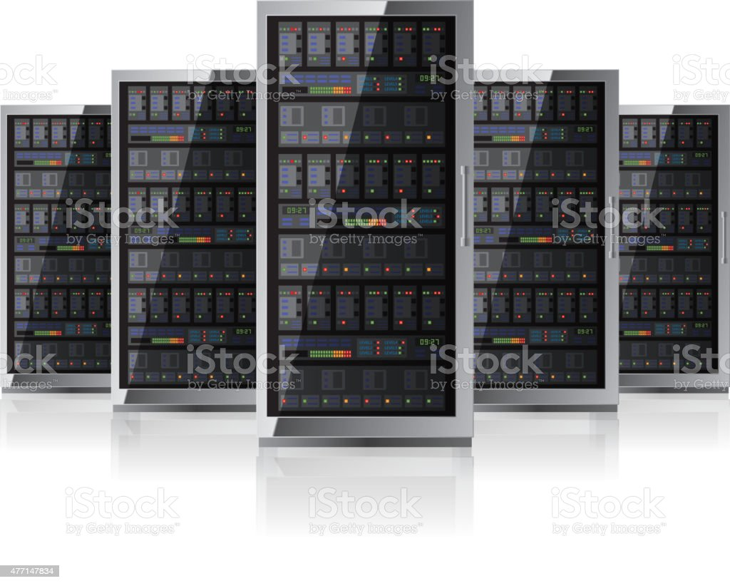 Network server vector art illustration