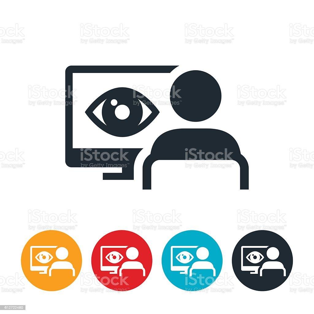 Network Surveillance Icon vector art illustration