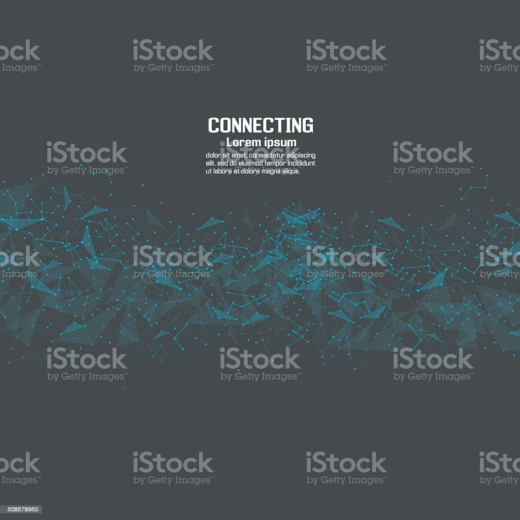 Network technology communication background vector art illustration
