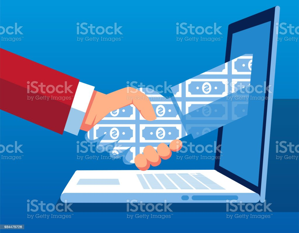 Network Technology Cooperation and Transaction vector art illustration