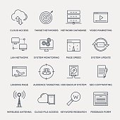 Network Technology Icon Set - Line Series