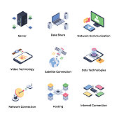 Here is a pack of network technology icon consisting of 30 vectors. All icons are highly customized to meet your needs as per project requirement.