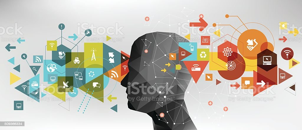 Network technology ideas vector art illustration
