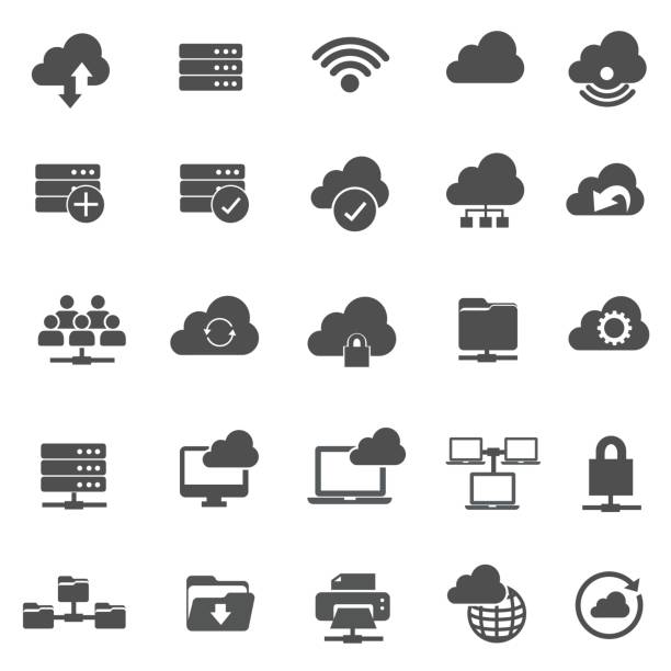 Network Technology Network Technology cloud computing stock illustrations