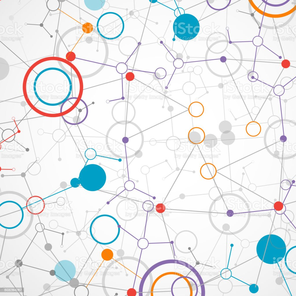Network Technologyscience Communication Background Stock ...