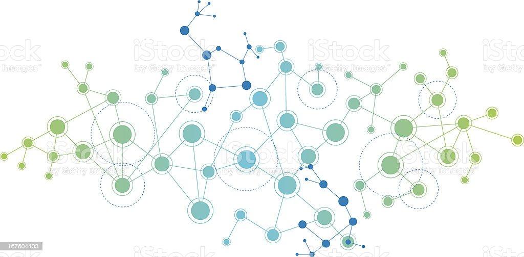 Network Themed Background vector art illustration