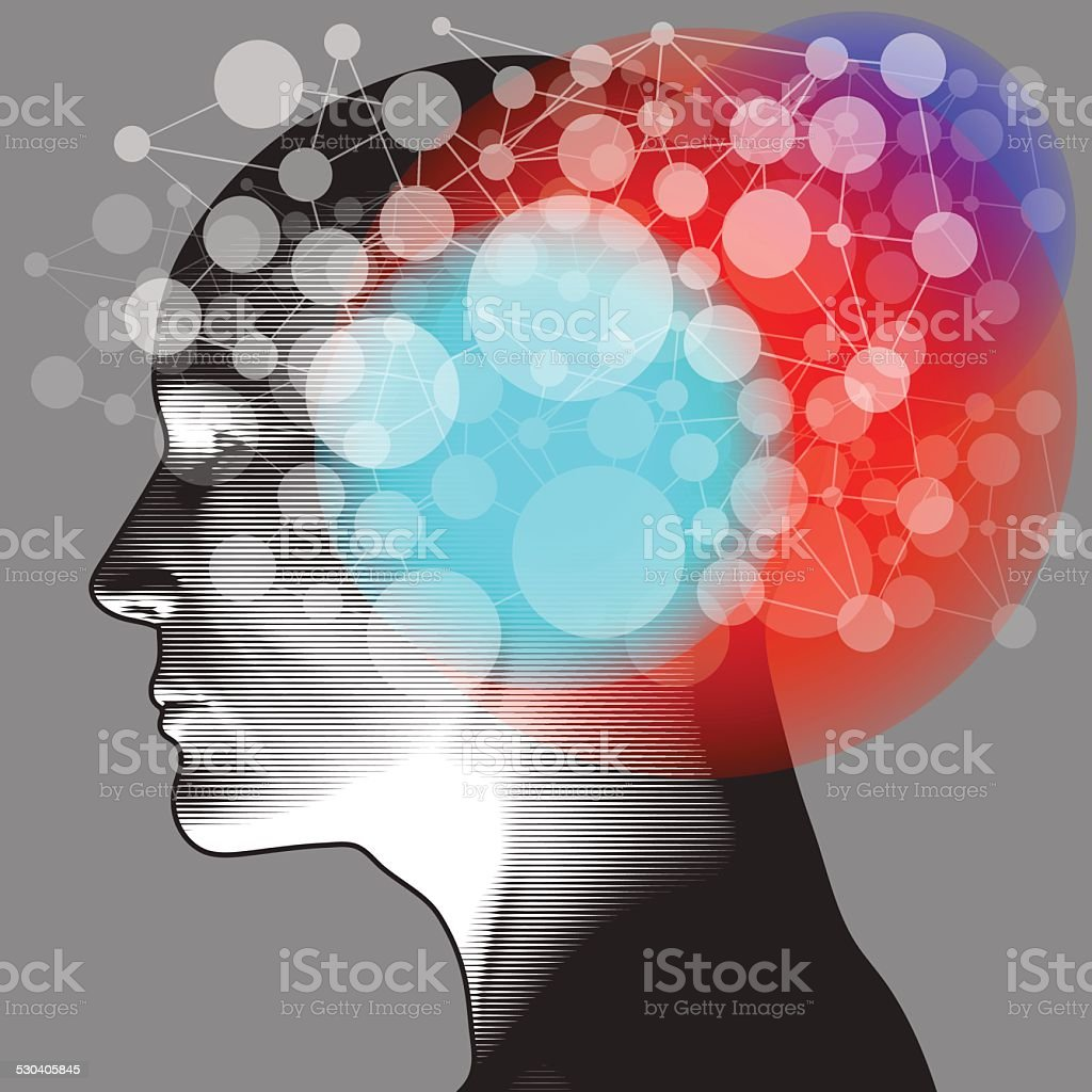 Netzwerk Gedanken – Vektorgrafik