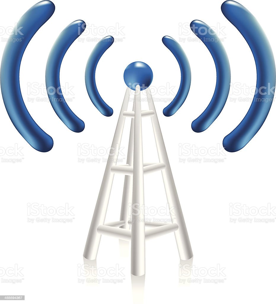 Network tower | Wireless Connection royalty-free stock vector art