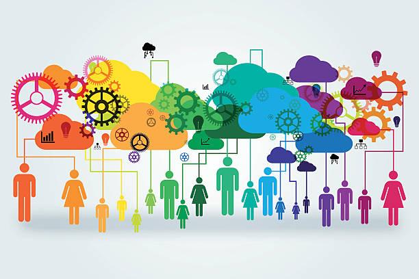 Network vector design concept. vector art illustration