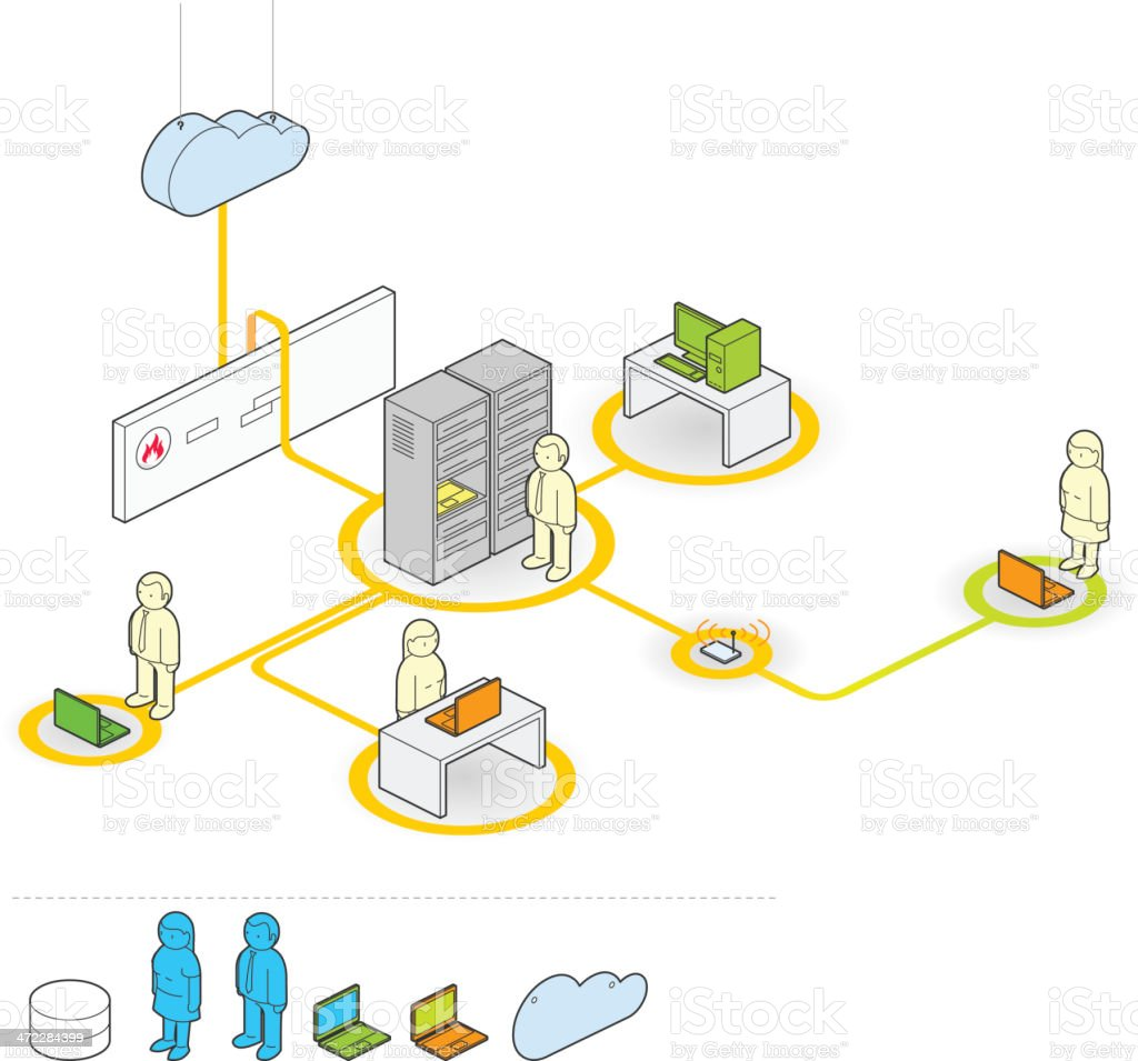 network royalty-free stock vector art