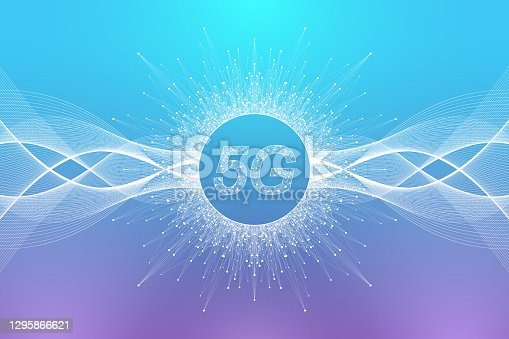 istock 5G network wireless systems and internet vector illustration. Communication network. Business concept banner. Artificial Intelligence and Machine Learning Concept Banner. 1295866621