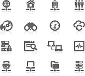 Set of 16 professional network icons for web applications, web presentation and more. File includes: vector EPS, PNG, JPG.