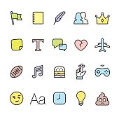 Networking related icons for App, Web or Print.