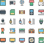Networking, Web, User Interface and Internet Vector Icons 17