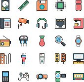 Networking, Web, User Interface and Internet Vector Icons 18