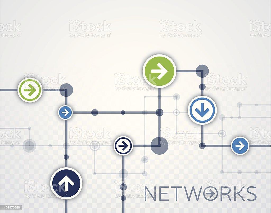 Networks Background vector art illustration