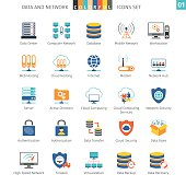 Data And Networks Colorful Icon Set