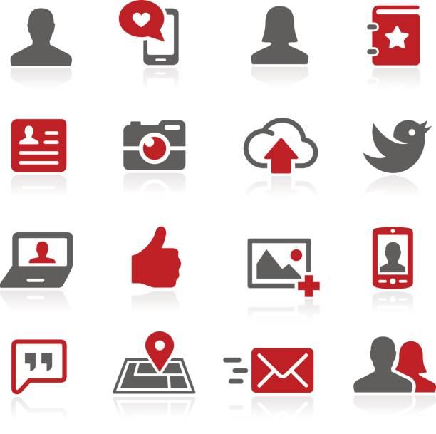 Networks Social Relationships // Redico Series vector art illustration