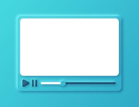 Neumorphism Online Video Playing Interface