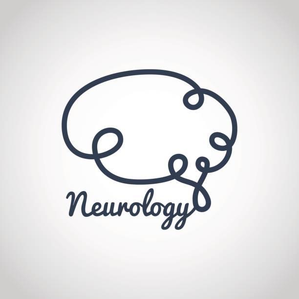 neurology logo vector icon template vector art illustration